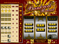 The type of style and theme of this slot game is that to a Wild Western banking theme and the Bankroll Reload logo above the reels is bursting with glittering golden coins. There are 3 versions of Bankroll Reload slots game...