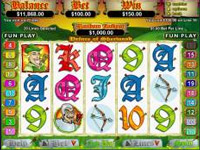 Do you rememebr Robin Hood and his band of merry men from Sherwood Forest who stole from the rich to give to the poor.... Then you need to play right here at this 5 reel, 20 payline video slot game.